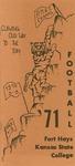 1971 Fort Hays Kansas State College football brochure by Fort Hays Kansas State College