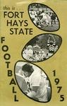 1975 Fort Hays Kansas State College football brochure by Fort Hays Kansas State College