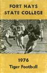 1976 Fort Hays Kansas State College football brochure by Fort Hays Kansas State College