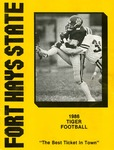 1986 Fort Hays State University football brochure