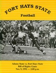 Adams State College vs. Fort Hays State football program by Fort Hays State University
