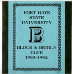 FHSU Block & Bridle Club Scrapbook: 1993-1994
