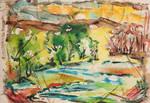 A River Runs Through It by Mabel Vandiver 1886-1991