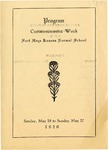 Commencement Program 1920 by Fort Hays Kansas State Normal School