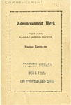 Commencement Program 1921 by Fort Hays Kansas State Normal School