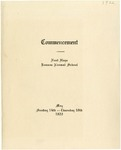 Commencement Program 1922