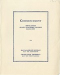 Commencement Program 1924 by Kansas State Teacher's College of Hays