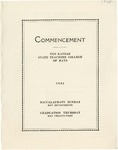 Commencement Program 1925 by Kansas State Teacher's College of Hays