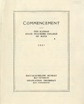 Commencement Program 1927 by Kansas State Teacher's College of Hays