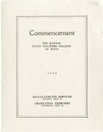 Commencement Program 1928 by Kansas State Teacher's College of Hays