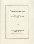 Commencement Program 1929 by Kansas State Teacher's College of Hays