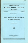 ISSAC McCOY: His Plan of and Work for Indian Colonization