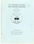 U.S. Air Force Academy Oral History Interview #116 Edward G. Lansdale