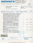 Hoover Brothers, Inc. Invoice