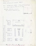 Hand drawn floor plan - Card Catalog & Index Area
