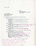 Letter from W.E. Keating to Ben Wearing regarding color selections for the new Forsyth Library building.