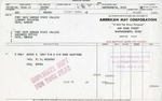 American Mat Corporation Invoice by American Mat Corporation