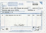 Graves Truck Line shipping invoice