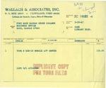 Wallach & Associates, Inc. invoice