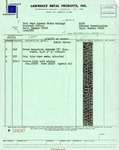 Lawrence Metal Products, Inc. invoice