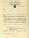 Letter from W.A. Lambertson to Marc T. Campbell regarding turnstiles for Forsyth Library