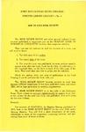 Fort Hays Kansas State College Forsyth Library Leaflet - No. 6