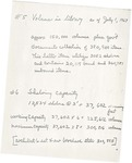 Volumes in the Library as of July 1, 1967