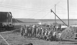 War prisoners digging pit silos - south end unit by Louis C. Aicher 1887-1977
