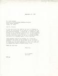Rarick Hall: Letter, to Louis Krueger, from G.W. Tomanek, September 27, 1976