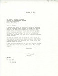 Rarick Hall: Letter, to Louis Krueger, from G.W. Tomanek, October 13, 1976
