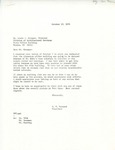 Rarick Hall: Letter, to Louis Krueger, from G.W. Tomanek, October 13, 1976