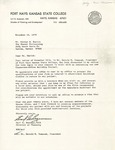 Rarick Hall: Letter, to George E. Emrich, from Earl G. Bozeman, November 16, 1976