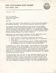Rarick Hall: Letter, to Pat Augustine, from Ronald C. Pflughoft, January 14, 1977