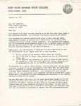 Rarick Hall: Letter, to Pat Augustine, from Ronald C. Pflughoft, January 14, 1977 by Ronald C. Pflughoft