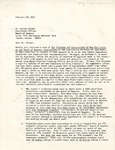 Rarick Hall: Letter, to Warren Corman, from Gerald W. Tomanek, February 28, 1977