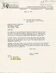 Rarick Hall: Letter, to Woods and Starr & Associates, from Louis J. Krueger, March 31, 1977 by Louis J. Kruger