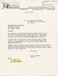 Rarick Hall: Letter, to Woods and Starr & Associates, from Louis J. Krueger, March 31, 1977
