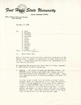 Rarick Hall: Letter, to [Select faculty], from Brian Murray, December 8, 1980
