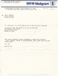 Rarick Hall: Mailgram, to Senator Ross Doyen, from Gerald W. Tomanek, March 30, 1977