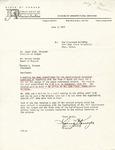Rarick Hall: Letter, to James Bibb, Warren Corman and Gerald W. Tomanek, from Louis J. Krueger, June 3, 1977