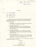Rarick Hall: Memorandum to Ron Pflughoft, from John C. Thorns, Jr., September 2, 1977