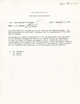 Rarick Hall: Memorandum, to Vice Presidents and Deans, from Gerald W. Tomanek, September 21, 1978