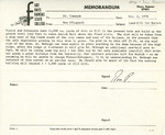 Rarick Hall: Memorandum, to Gerald W. Tomanek, from Ron Pflughoft, October 2, 1978