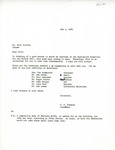 Rarick Hall: Letter, to Bill Claflin, from Gerald W. Tomanek, May 1, 1980 by Gerald W. Tomanek