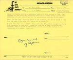 Rarick Hall: Memorandum, to Roger Pruitt, from Gerald W. Tomanek, June 1, 1981