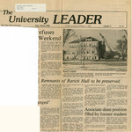 Rarick Hall: Newspaper, Remnants of Rarick Hall to be preserved by The University Leader