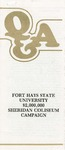 Sheridan Coliseum: Brochure, Q & A: Fort Hays State University $2,000,000 Sheridan Coliseum Campaign
