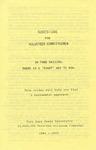 Sheridan Coliseum: Brochure, Suggestions for volunteer committeemen