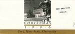 Sheridan Hall: Card sent at Christmas time to donors of the renovation of Sheridan Coliseum