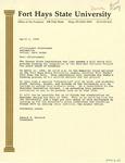 Sheridan Coliseum: Letter, draft, from President Hammond by Edward Hammond